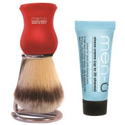 men-u DB-Premier Shaving Brush With Chrome Stand - Red