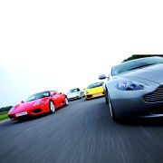 Four Supercar Driving Blast