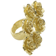 Daisy Knights Large Rose Ring - Gold