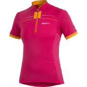 Craft Women's Active Bike Convert Jersey - Pink/Granite/Orange