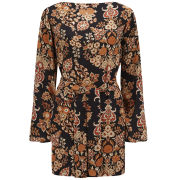 Vivienne Westwood Anglomania Women's Nico Black Dynasty Print Tunic Dress - Multi