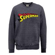 DC Comics Sweatshirt - Superman Telescopic Logo - Steel Grey