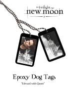 Twilight New Moon - Epoxy Dog Tags Edward With Quote