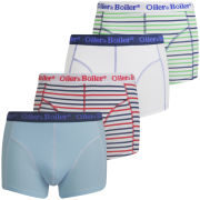 Oiler & Boiler Men's 4-Pack Print Boxers - Jet Stripe