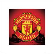 Manchester United Club Crest - 40 x 40cm Print
