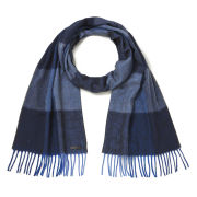 Ted Baker Men's Thick Check Scarf - Blue