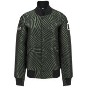 Opening Ceremony Women's Dimensional Fingerprint Classic Oc Varsity Boxy Jacket - Marble Green Multi