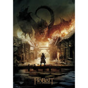 The Hobbit Battle of Five Armies Smaug - Metallic Poster - 47 x 67cm