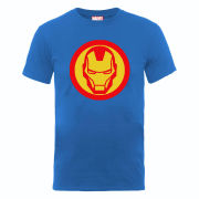 Marvel Avengers Assemble Iron Man Simple Symbol Men's T-Shirt - Blue