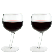 Tipsy Wine Glasses - 2 Pack