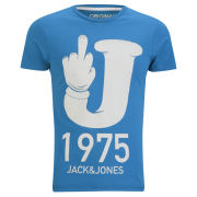 Jack and Jones Men's Nolan T-Shirt - Mykonos Blue