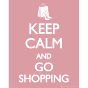 Keep Calm Go Shopping - Mini Poster - 40 x 50cm