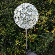 Aria Solar Crystal Ball Spike Light