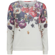 ONLY Women's Cherry Flowers Sweatshirt - Cloud Dancer