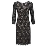 Diane von Furstenberg Women's Colleen Fitted Back Zip Lace Dress - Black
