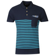Boxfresh Men's Kaashiff Striped Polo Shirt - Navy