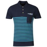 Boxfresh Men's Kaashiff Striped Polo Shirt - Navy