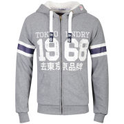 Tokyo Laundry Men's Lonnie Zip Through Hoody - Mid Grey Marl