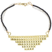 Daisy Knights Exclusive to Coggles Ana Stud Bracelet - Black/White