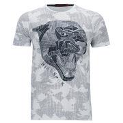 Ringspun Men's Panther T-Shirt - White/Navy