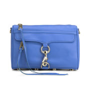 Rebecca Minkoff Women's Mini Mac Leather Cross Body Bag - Bright Blue