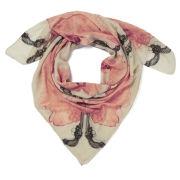 Alva Norge Women's Guns Pink Wool/Cashmere Scarf - Cream