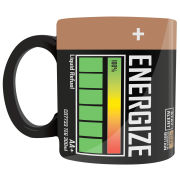 Energize Battery Mug - Black/Gold