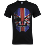 Joystick Junkies Men's Union Jack Scull T-Shirt - Black