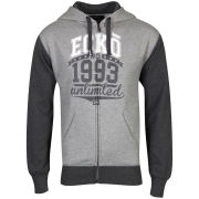 Ecko Men's Time Contrast Sleeve Hooded Sweatshirt - Grey