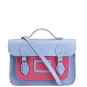Cambridge Satchel Company 13 Inch Leather Satchel - Bellflower Blue/Orchid