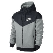 Nike Men's Windrunner Fleece Mix Jacket - Dark Grey Heather