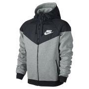 Nike Men's Windrunner Fleece Mix Jacket - Dark Grey Heather