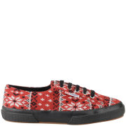 Superga Women's 2750 Fantasy Jacquard Trainers - Red
