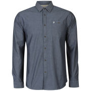 Farah 1920 Men's Hertford Long Sleeve Shirt - Navy