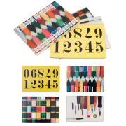 Eames Office House of Cards Mixed Serving Mats Set of 4