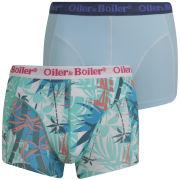 Oiler & Boiler Men's 2-Pack Print Boxers - Caribbean Blue