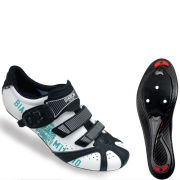 Bianchi Kraken Plus Carbon Road Cycling Shoe - White/Celeste