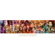 Star Wars Complete Saga - Midi Poster - 30.5 x 91.5cm