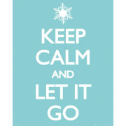 Keep Calm Let it Go - Mini Poster - 40 x 50cm