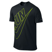 Nike Men's Run Cruiser Swoosh T-Shirt - Black