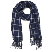 Vero Moda Women's Large Grid Long Scarf - Black Iris