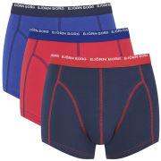 Bjorn Borg Men's Basic Contrast 3 Pack Boxers - Mazarine Blue