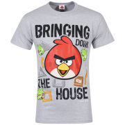 Angry Birds Men's Bringing The House Down T-Shirt - Grey Marl