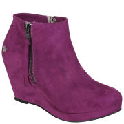Blink Women's Suede Wedges - Purple