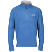 55 Soul Men's Inca Half Zip Fleece Sweatshirt - Royal/Silver Grey
