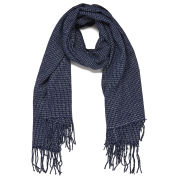 Vero Moda Women's Grid Long Scarf - Black Iris