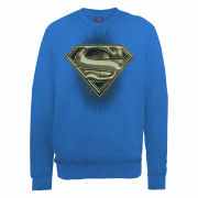 DC Comics Sweatshirt - Superman Engraving Logo - Royal Blue