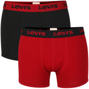 Levi's Men's 2-Pack Inglewood Boxer Shorts - Black/Red