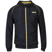 Slazenger Men's Zip Through Hooded Kagoule - Navy Blue/Yellow