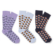 French Connection Men's Aiden Socks - Star Multi